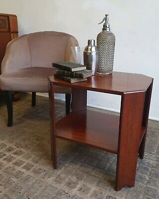 Art Deco Heals Style Solid , Mahogany Book , Lamp Table