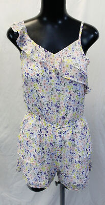 Abercrombie Kids Girl's Floral Print Romper SV3 White Size 13/14 NWT