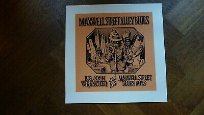 Robert Crumb - silk screen -  Maxwell street Alley Blues -