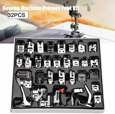 32/42 pcs Sewing Machine Presser Foot Feet Tool Kit For Brother Singer Domestic