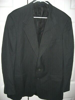 Mens Dark Gray AUSTIN REED Lined Wool Suit 46 Regular