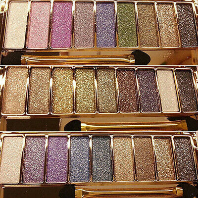 9 Colors Eyeshadow Palette Shimmer Glitter Makeup Eye Shadow & Brush Cosmetic