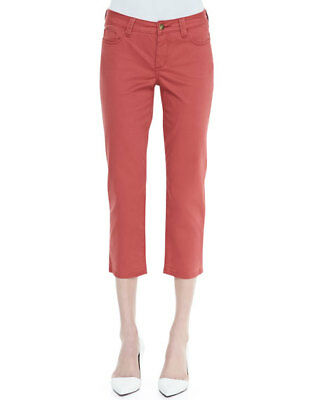 Christopher Blue Capri Cropped Ankle Jean Size 8 Pink Straight Leg Stretch NEW