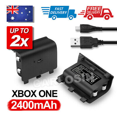 2400mAh Rechargeable Battery Pack + USB Charger Cable for XBOX ONE Controller