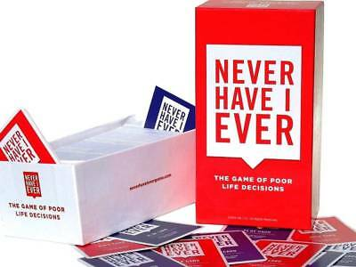 Never Have I Ever Card Game - The Game Of Poor Life Decisions For Ages 17+