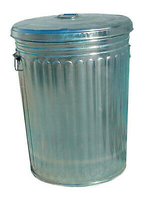 20 GALLON GALVANIZED TRASH CAN WITH LID TRASHCAN20GAL  - 1 Each