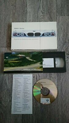 BMW E39 5 Series Saloon Sport Wagon Touring Owner's Manual CD-ROM VHS Video 2001