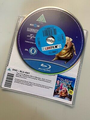 Sing -  Blu-Ray * DISC ONLY * (2017) Garth Jennings Kids Animated U musical