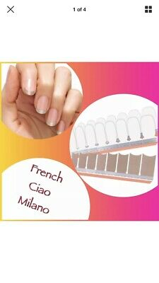 French Ciao Milano Color Street Nail Strips Gold French Manicure 100% Polish