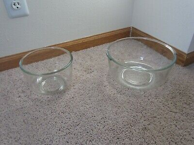 Oster Kitchen Centers & Sunbeam Replacement Glass Mixing Bowls - Large & Small