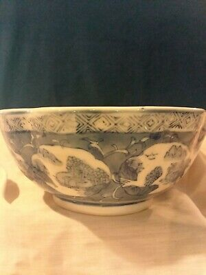 """Antique Chinese Porcelain Bowl 6 3/4"""" Diameter 3 """" Tall"""