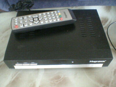 magnavox tv set top box and remote control dvb hd hdmi audio video composite out