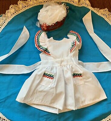 American Girl Doll Molly Birthday Pinafore Party Dress EXCELLENT CONDITION