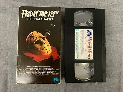 VHS TAPE in SLEEVE - FRIDAY the 13th The FINAL CHAPTER SLASHER HORROR with JASON