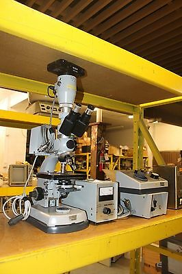 Carl Zeiss 46-72-85-0203-810 Microscope Loaded Lamp Objectives Camera Nice