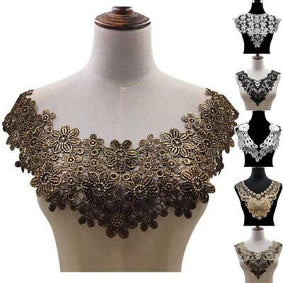 30 Style High Quality White Lace Fabic Embroidered Applique Neckline for Lace