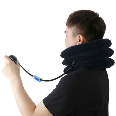 Inflatable Cervical Collar Neck Relief Stretcher Device Traction Brace Support