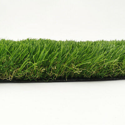 3m x 2m Artificial Grass Astro Turf Fake Lawn Realistic Natural Green Garden