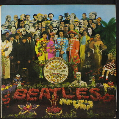 BEATLES: Sgt. Pepper's Lonely Hearts Club Band LP (UK Mono, black/yellow lbl