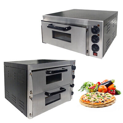 "NEW Commercial 16"" Pizza Oven Deck Electric Baking Fire Stone Catering UK Stock"