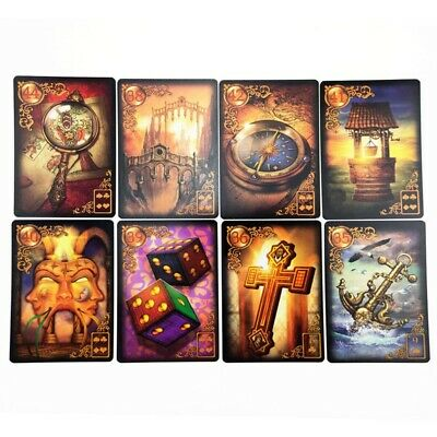 47PCS Read Fate Lenormand Oracle Cards Mysterious Fortune Tarot Desk Cards Game