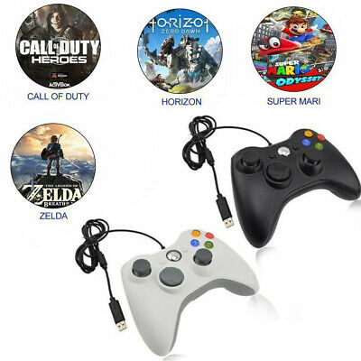 USB Wired Joypad Gamepad Controller For Microsoft Xbox 360 PC Windows 7 8 10 XP