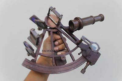 Nautical Sextant Brass Astrolabe Instrument Marine Vintage Antique Collectible