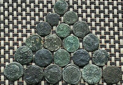 Lot Of 21 Ancient Roman Imperial Bronze Coins Ae Follis Very Nice Coins