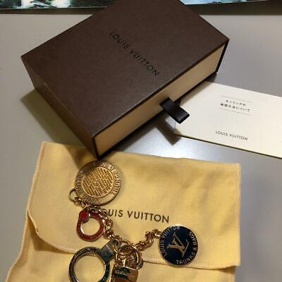 LOUIS VUITTON Bag Charm Key Holder TRUNKS & BAGS NEVER USED From Japan