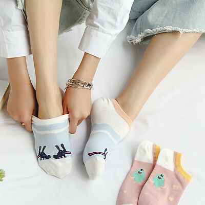 2 Pairs Fashion Comfortable Cotton Boat Socks Short Sock Lady Girls Ankle Socks