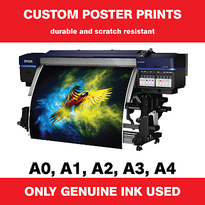 230gsm Matte Poster Printing Service Full Colour Quick Reliable Custom Sizes A1