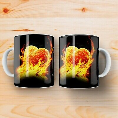 LOVELY HEART VALENTINE CUP changing colour mug GIFT Heat Sensitive Mug MAGIC CUP