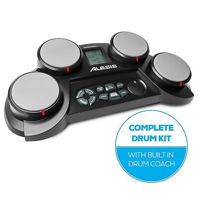 Alesis CompactKit 4 | Ultra-portable Electronic 4-Pad Tabletop Drum Kit with ...
