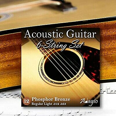 Adagio Pro ACOUSTIC GUITAR Strings Full Pack LIGHT/MEDIUM Gauge 12-52 Phophor...