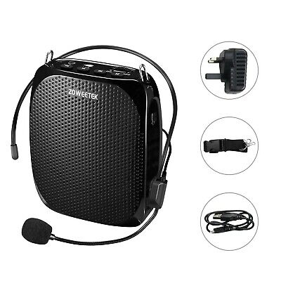 Zoweetek 10W Voice Amplifier Rechargeable 1800mAh, Portable Waistband Wired H...