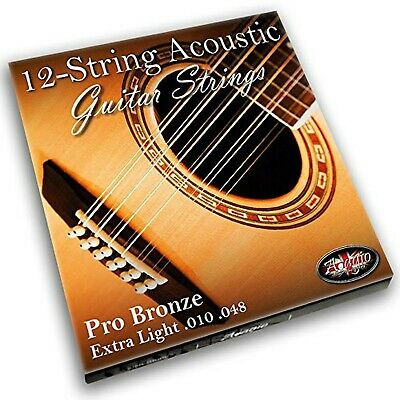 Adagio Pro 12-String Acoustic Guitar Strings (12 String) - Bronze 80/20 (Extr...