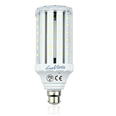 Luxvista 30W B22 LED Corn Light Bulb Daylight 6000K 3000lm BC Bayonet Cap Cor...