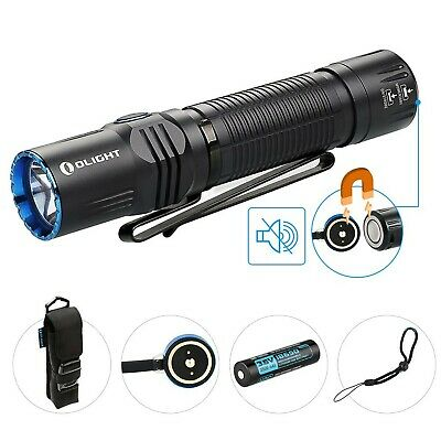 Olight® M2R Warrior Rechargeable Tactical 18650 Torch 1500 Lumens Powerful Du...