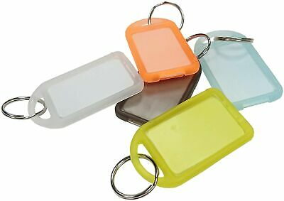 Merriway BH01850 Assorted Colours Larger 54 x 30mm (2 inch x 1.1/4 inch) Key ...