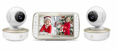 Motorola Video Baby Monitor - 2 Wide Angle HD Cameras with Infrared Night Vis...