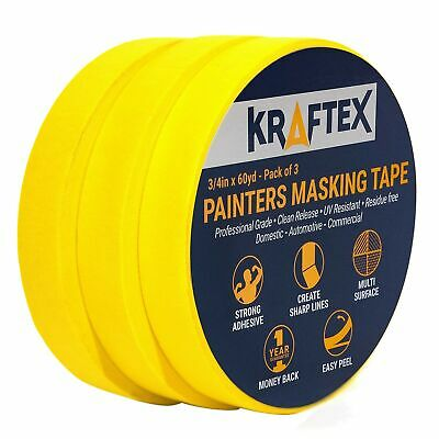 Painters Tape 180YRD x ¾ Inch for Pro Painting [Clean Lines Everytime] 3 x 60...