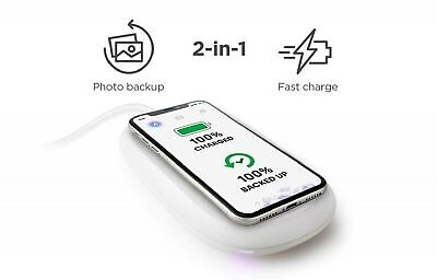 SanDisk iXpand Wireless Charger 256 GB, 10 W Fast Wireless Charger with Photo...