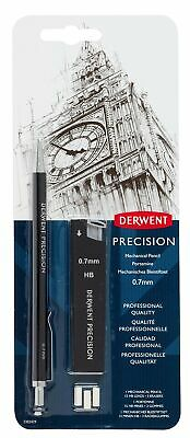 Derwent 0.7 mm Precision Mechanical Pencil, HB Leads and Erasers Included, Pr...