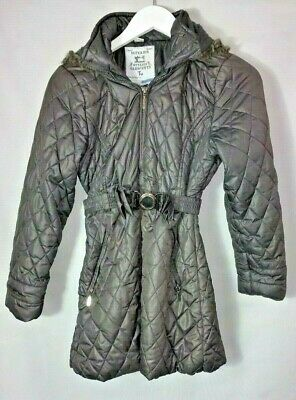 TU GIRLS Winter COAT JACKET 11-12 Years Puffer Grey Padded Fur Hood