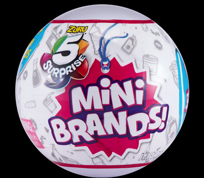 5 Surprise! Mini Brands - 1 Ball - Made By Zuru! 100% Real Authentic - New