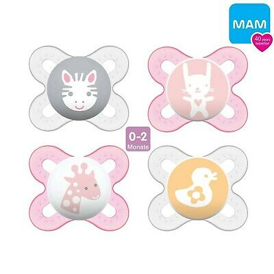 Boy//Set of 4; with 2/Assorted Ilisi Ertra Port Boxes MAM Skin Soft Silicone Dummies//0-6/mo