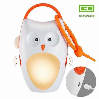 USB Powered-Baby Sleep Soother Sound Machines, Rechargeable, Portable White N...