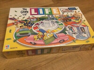 The Game Of Life * The Simpsons Edition * Brand New In Sealed Box * Rare
