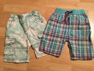 Next & M&S two 2 x pairs of boys shorts age 12-18 months 1 - 1.5 years