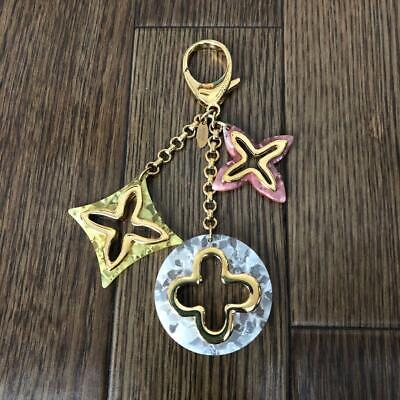 Auth LOUIS VUITTON Key Ring Chain Bag Charm Multi-color Used from Japan F/S